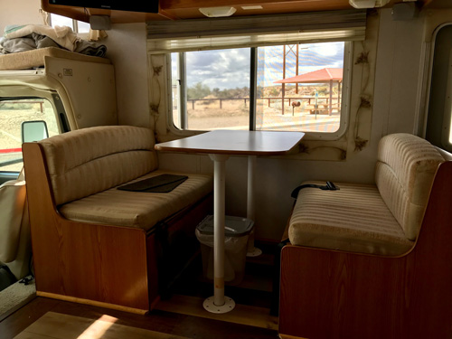Dining Table in Phoenix RV Rental