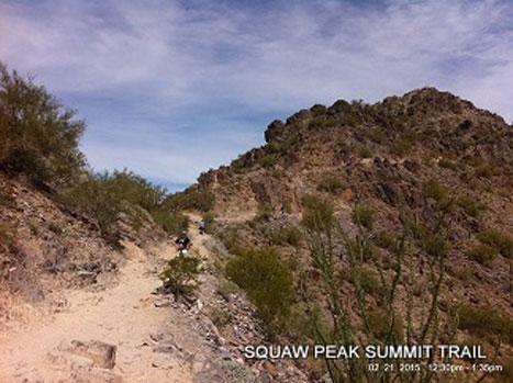 Squaw Peak Summit Hiking AZ