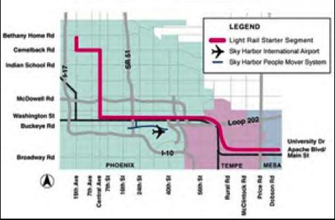 phoenix light rail route
